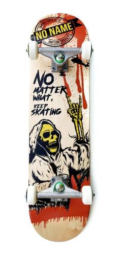 Skate Completo No Name Profesional Parka 100% Maple Importad