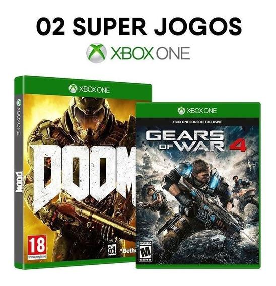 Doom + Gears Of War 4 - Xbox One - Mídias Originais