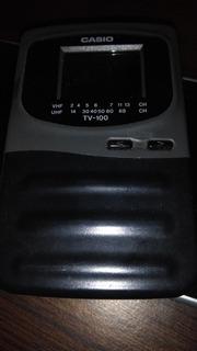 Tv Casio Mini Portátil A Pilas. Excelente Estado. Pilas Aa X