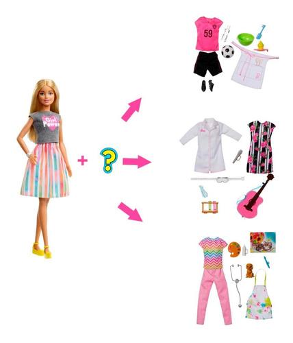 Muñeca Barbie Profesión Sorpresa 8 Sorpresas Original Mattel