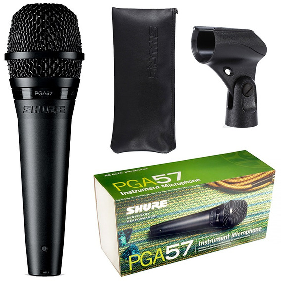 Microfone Shure Pga57 P/ Instrumento Dinamico Original