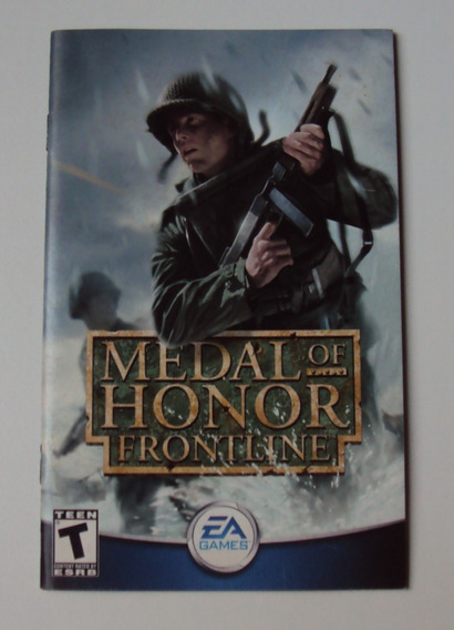Manual Original Americano - Medal Of Honor Frontlines - Ps2