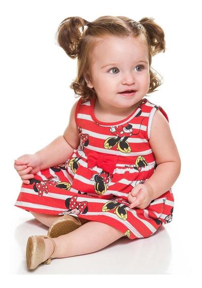 Vestido Bebê Brandili Minnie Modelos Imperdíveis Cód: 787