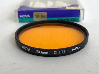 Filtro Orange Naranja 58mm Ø - Hoya - Made In Japan