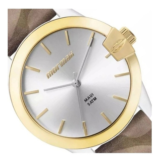 Relógio Esporte Fino Camuflado Com Dourado Mormaii Lindo Top