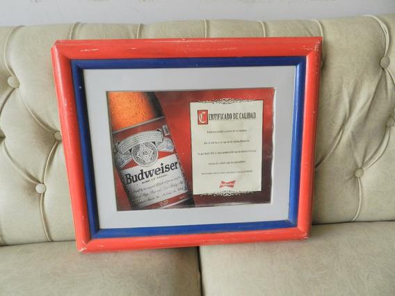 Póster-lámina-cuadro-afiche- Publicidad Cerveza Budweiser.