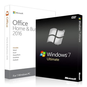 Windows 7 Ultimate + Office.2016 (2 Dvds) + Licencias 1pc