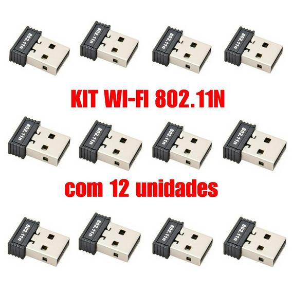Kit Wifi 12 Adaptador Usb 2.0 Para Computador / Notebook