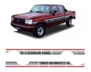 Kit Adesivos Ford F1000 1993 Super Série Cabine Dupla Prata