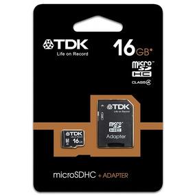 Cartão De Memória Micro Sd 16gb Tdk Com Adaptador