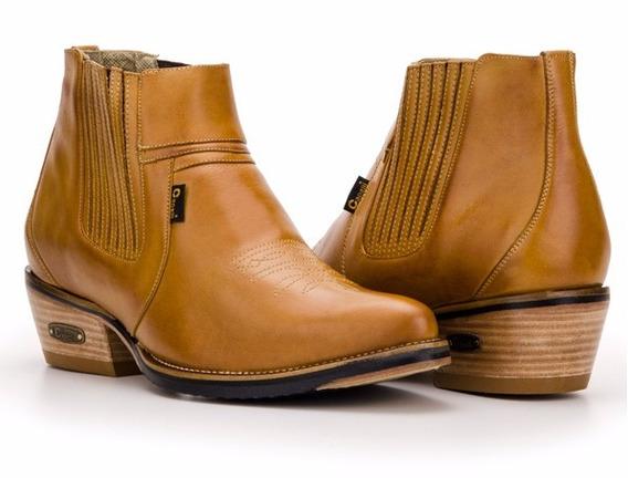 Botina Bota Masculina Country Texana Couro - Capelli Boots