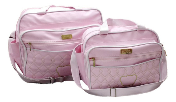 Conjunto Bolsas Maternidade Rosa