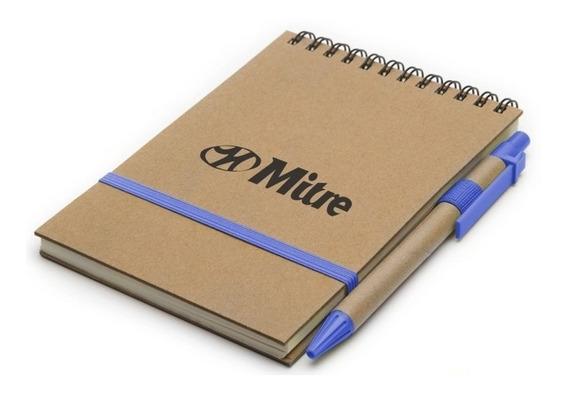 30 Cuadernos Anotadores Ecológicos Con Logo Personalizado