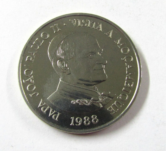 Moneda Mozambique 1988 1000 Meticais Papa Juan Pablo I I