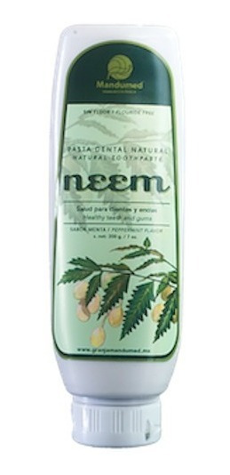 5 Pastas De Neem Natural Libre De Fluor De 200 G C/u