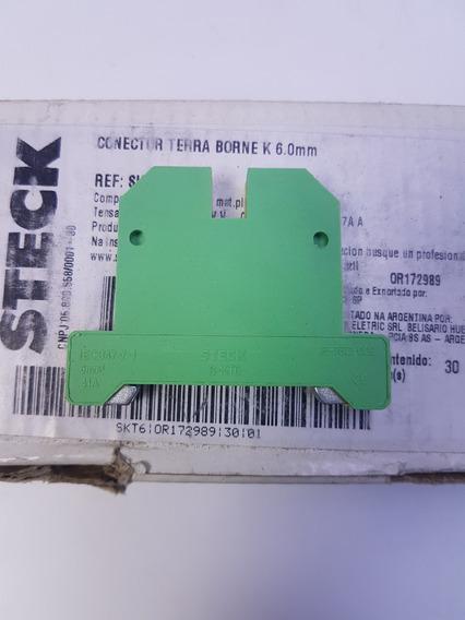 Borne Sak Terra 6mm Skt-6 Steck Para Trilho Din