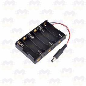 Suporte Porta 6 Pilhas Aa Com Plug P4 - Fonte P/ Arduino