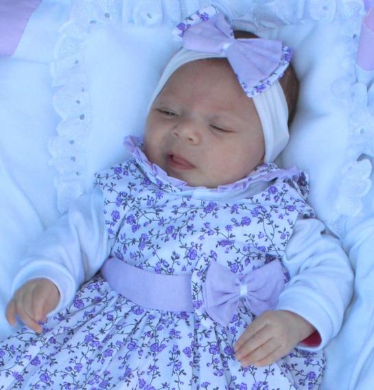 Saída Maternidade Menina Linda 5 Peças Cor 5 Lilás Promoção