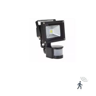 Reflector Led Lampara Con Sensor De Movimiento 10w Luz Fria