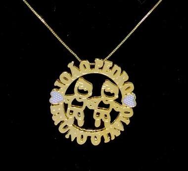 Colar Mandala 4 Nomes Coleção Filhos Amados Folheado Ouro18k
