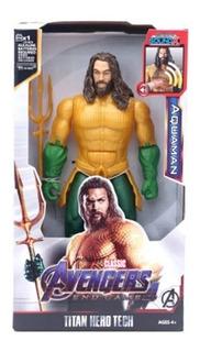 Muñeco Aquaman 30 Cm Articulado Luz Sonido Genérico Figura