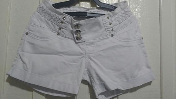 Short Jeans Branco Bivik