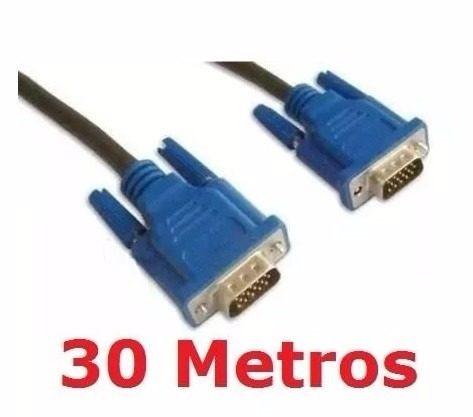 Cabo Vga 30m Monitor Lcd Led Pc Projetor 30 Metros Blindado