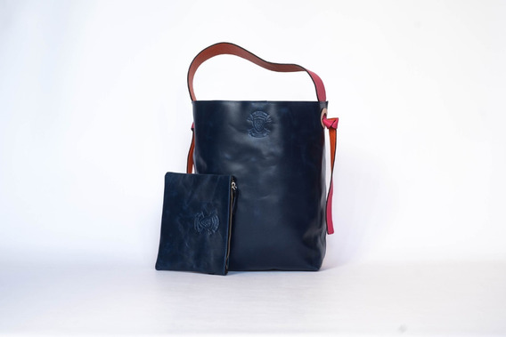 Cartera De Cuero 100 % Celina Bolso Tote Bag Promo Premium