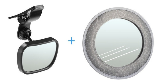 Kit Espelho Retrovisor Dianteiro + Traseiro Carro Multikids