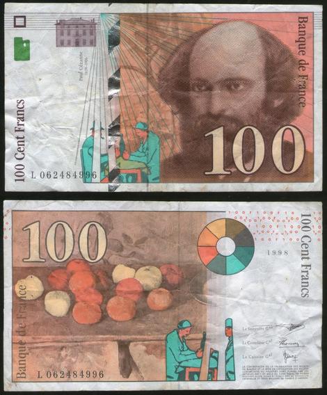 Spg Billete Francia 100 Francos 1997 1998 Pick 158 Mb-