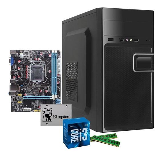 Cpu Pyx One Intel Core I3 4gb Ssd 120gb 10x + Rápido
