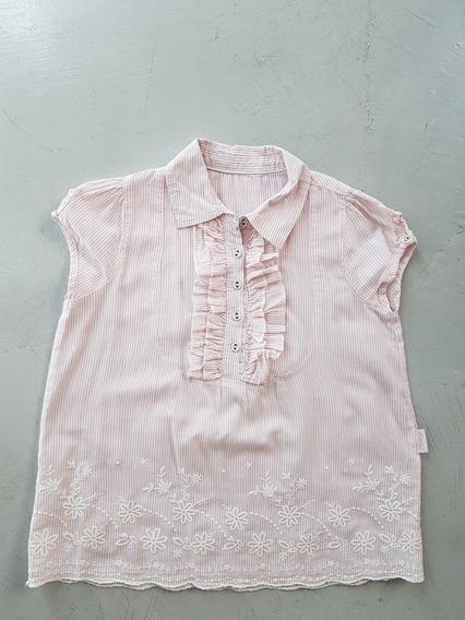 Cheeky Camisa Camisola Blusa Bordada Rosa Talle 8 Cómo Nueva