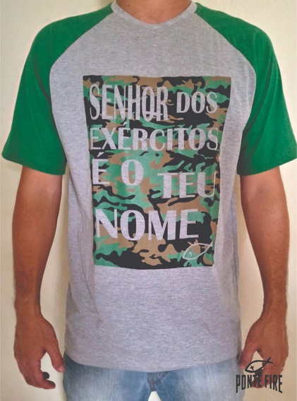 Camisa Camiseta Cristã Evangélica Senhor Dos Exércitos