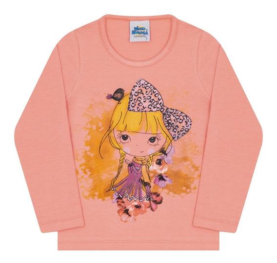 Blusa Infantil Bicho Bagunça Cotton Menina