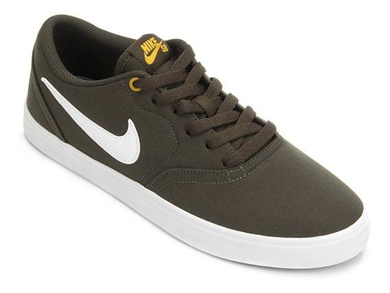 Tênis Nike Sb Check Solar Cnvs Original Nfe Masculino Preto