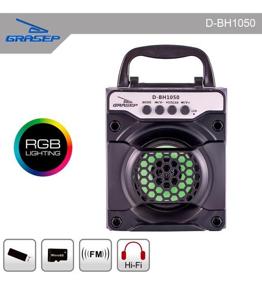 Caixa Som Bluetooth 6w Rms Amplificada Usb Mp3 Radio Fm Sd