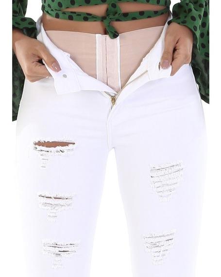 Calça Jeans Feminina Super Lipo Sawary Cintura Alta Original