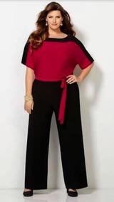 Lote 5 Calça Pantalona Plus Size Xgg Lisa Cós Largo Barato