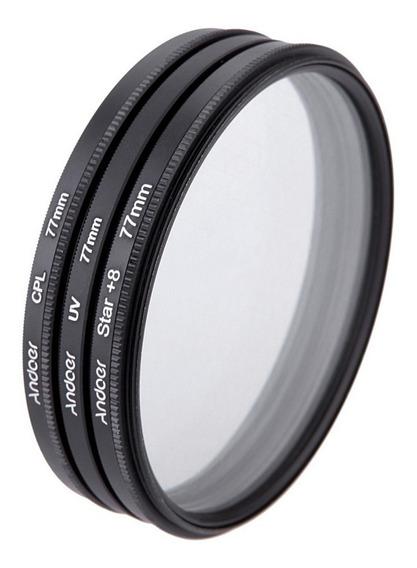 Filtro Filtros 77mm Canon Nikon Sony Dslr - Frete Grátis