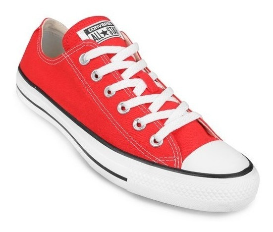 Zapatillas Converse All Star Low Lona Color Rojo