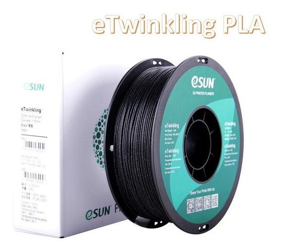 Filamento Pla Etwinkling (glitter) Esun 1.75mm 1kg Premium