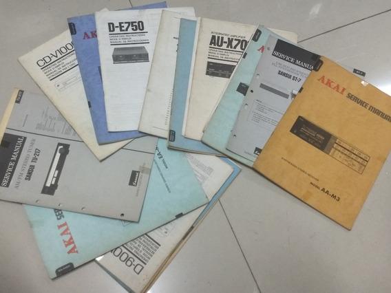 Sansui Akai 21 Manuais Serviço Som Antigo Radio Deck Manual