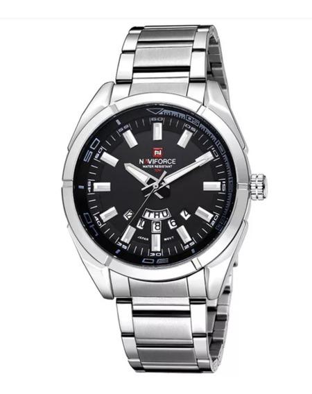 Relógio Masculino Naviforce Prata Esportivo Nf9038 Promoção!