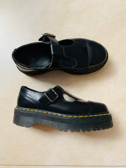 Dr Martens Negros Mary Jane Talle 40 Con Plataforma