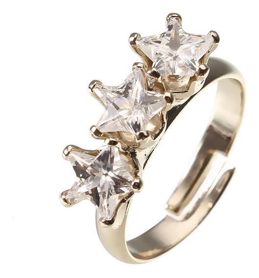 Jassy Fashion Banhado A Ouro Triplo De Cinco Pontas Estrela