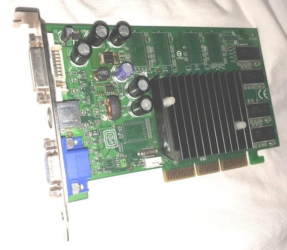 Placa De Víde Geforce Fx5200 128mb Agp Dvi Vai C/pasta