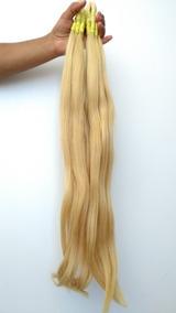 Cabelo Humano Loiro Claro Para Mega Hair 60cm 50 Gramas.