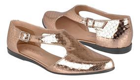 Zapatos De Piso Para Mujer Stylo 151 Cobre Rosado