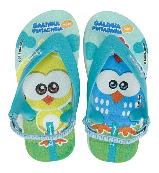 Chinelo Infantil Menino Galinha Pintadinha 26102 Novo Azul