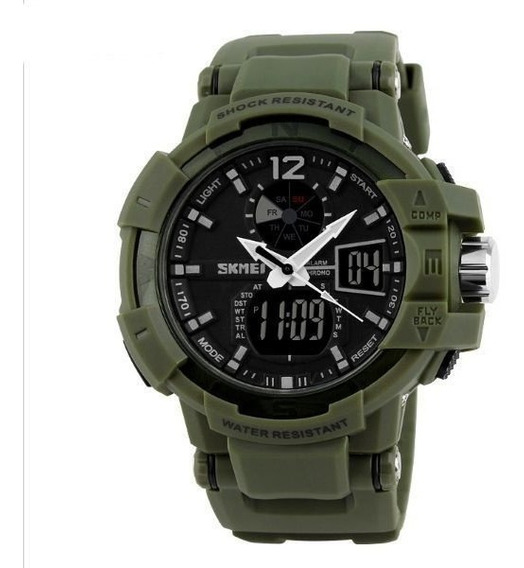 Relógio Masculino Gshock Skmei Militar A Prova D Água Dj0125